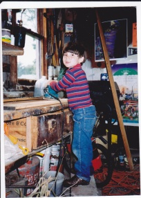 Picture taken in our garage in Jamesville, NY. Taken in 1991 or 92.